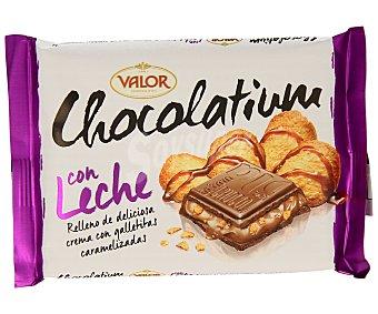 Valor Chocolate con leche relleno de galletas caramelizadas 100 gramos