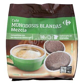 Carrefour Café monodosis mezcla compatible con Senseo 18 ud