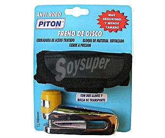 PITON Pinza anti-robo para freno de disco de motocicleta con eje de 10 milímetros auchan 1 unidad 1 unidad