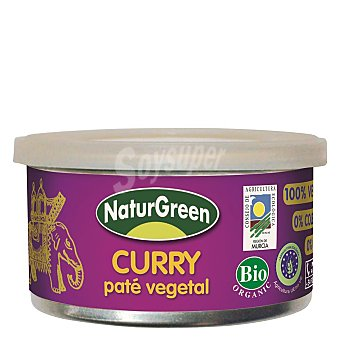 Naturgreen Paté vegetal de curry ecológico Tarrina 125 g
