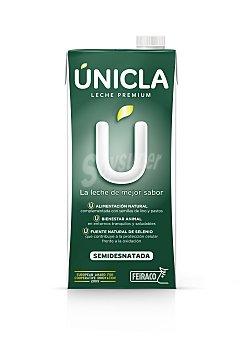 Feiraco Unicla leche semidesnatada UHT  envase 1 l