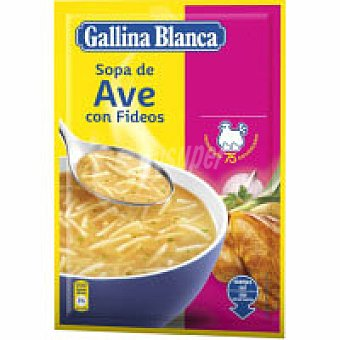 Gallina de Blanca Sopa de ave con fideos Sobre 100 g