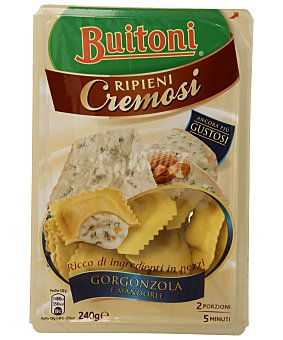 Buitoni Pasta ravioli al huevo rellena de queso gorgonzola y almendras 240 g