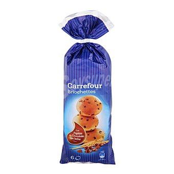 Carrefour Brioches con pepitas de chocolate con leche 250 g