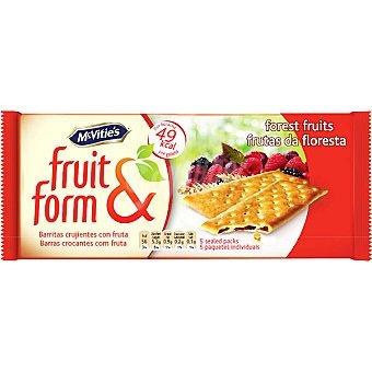 MCVITIE'S FRUIT&FORM Galletas crujientes rellenas de frutas del bosque Estuche 195 g