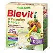 Plus Duplo papilla instantánea de 8 cereales y frutas desde los 5 meses caja 600 g 600 g Blevit