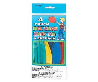 UNIQUE Globos grandes de colores con goma 4 unidades