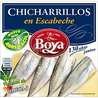 BOYA Chicharrillos en escabeche Lata 270 gr