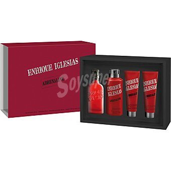 ENRIQUE IGLESIAS Adrenaline eau de toilette natural masculina + desodorante + gel de baño + after shave spray 100 ml