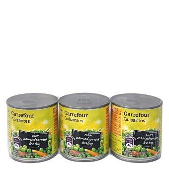 Carrefour Guisantes con Zanahoria Pack de 3x130 g