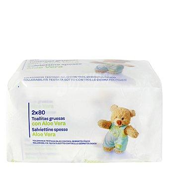 Carrefour Toallitas bebé Pack 2x80 ud