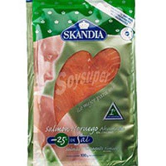 Skandia Salmon ahumado -25% sal Sobre 100 g