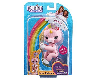 WOWWEE Kingsley Fingerlings Minimascota bebé unicornio Kingsley Fingerlings, WOWWEE.