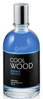 COOL WOOD Eau toilette hombre aroma bosque mistico con vaporizador (azul) Botella 100 cc