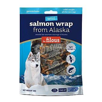 Les filous Snack para perros cachorros, adultos y senior envoltura de salmón 60 gr