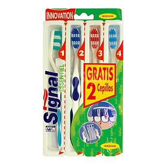 Signal Cepillo de dientes medio Pack de 4 unidades