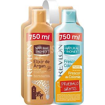 Natural Honey Gel de baño elixir de argan pack 3 bote 750 ml Pack 3 bote 750 ml