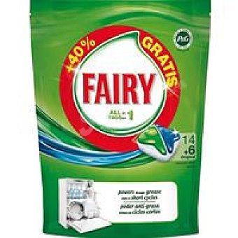 Fairy Detergente lavavajillas Todo en 1 14 pastillas