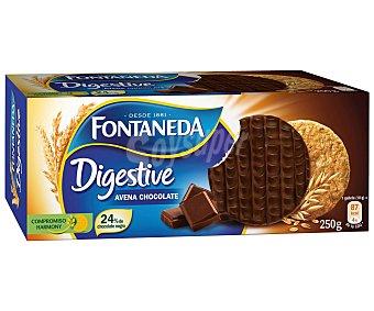 Fontaneda Digestive de avena con chocolate Caja 250 g