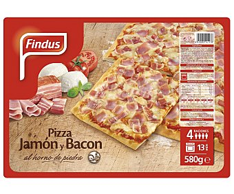 Findus Pizza jamón y bacon 580 g