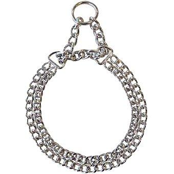 Sprenger Collar de perro doble acero cromado talla 1 medidas 35 cm x 2 mm 1 unidad