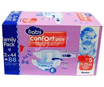 Auchan Pañal Confort para Niños de 11 a 25 Kilos Talla 5 88u