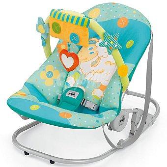 CAM S362 hamaca para bebé Giocam con arco de juegos en color turquesa con ovejita y flores