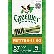 Snacks dentales para perros entre 8-11 kg Envase 5 unidades Greenies