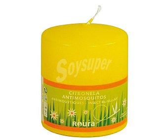 Roura Vela cilíndrica perfumada de 80x75 ml y con olor a citronela 1 unidad