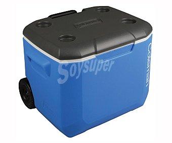 Coleman Nevera portátil rígida con ruedas, de capacidad, color azul, coleman 56 litros