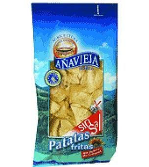Añavieja Patatas fritas aceite girasol sin sal 125 g
