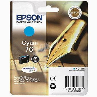 Epson Nº 16 cartucho de tinta color cyan