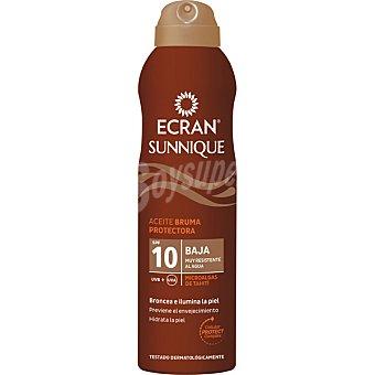Ecran Lemonoil Broncea y protege aceite protector microalgas de Tahití FP-10 spray de 250 ml