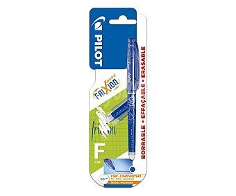 PILOT Frixion Bolígrafo punta de aguja y grosor de 0.5mm con tinta líquida borrable azul frixion point