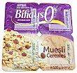 Yogur bifidus desnatado fibras trozos cereales y muesli 4 unidades de 125 g (500 g) Hacendado