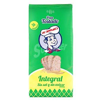 Los Compadres Pan brasa integral sin azúcar y sin sal 260 g
