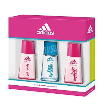 Adidas Estuche colonias spray GET READY 50 ml. + PURE LIGHTNESS 50 ml. + FRUITY RHYTHM 50 ml.  1 ud