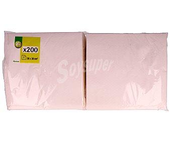 Productos Económicos Alcampo Servilletas blancas de papel (30 x 30 centímetros) 200 unidades