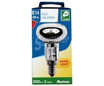 AUCHAN Bombilla EcoHalógena Reflectora R50 E14 28W 1 Unidad