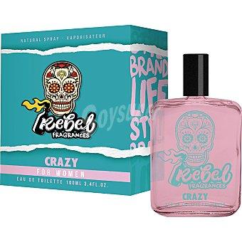 Rebel Colonia para mujer Crazy 100 ml
