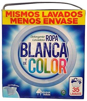 Bosque Verde Detergente lavadora polvo ropa blanca y color 35 lavados, paquete 2625 g