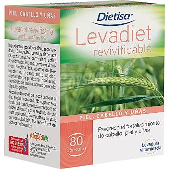 DIETISA Levadiet Revivificable Levadura de cerveza ápsulas envase 32 g 80 c