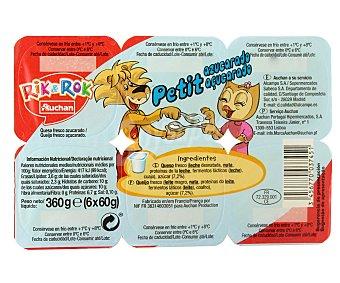 Rik&Rok Auchan Petit natural con azúcar 6 unidades de 60 gramos