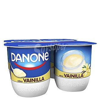 Danone Yogur sabor vainilla  4 unidades de 120 g