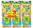 Zumo de piña y soja de origen 100% vegetal 3 x 25 cl Vivesoy