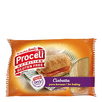Proceli Ciabatta sin gluten Pack de 2x140 g
