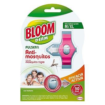 Bloom Derm pulsera repelente de mosquitos Común y Tigre talla mediana m/xl + 2 pastillas 2 pastillas