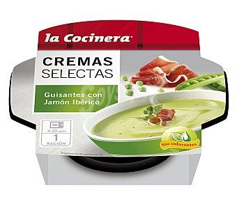La Cocinera Crema de guisantes con jamón ibérico 230 gramos