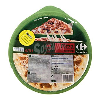 Carrefour Pizza chorizo 400 g