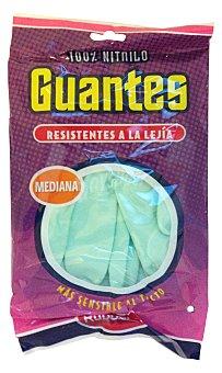Rubberex Guantes resistente lejia verdes talla mediana Paquete 2 u